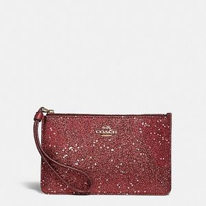 Coach Bags - Boxed Small Wristlet With Star Glitter Print
