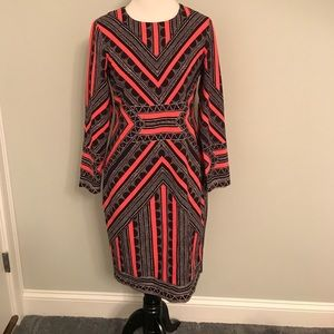 Vince Camuto dress black coral NWT size 10 petite