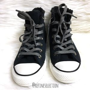 fe4be3d2a158 Converse Shoes - Converse Suede Faux Fur Zip Chuck Taylor Hi Top
