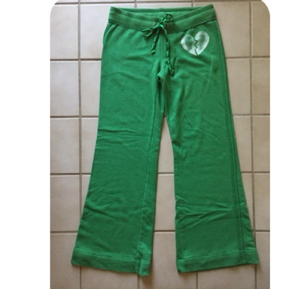 9a6def955a883 Victoria's Secret PINK Lounge Sweatpants Green S