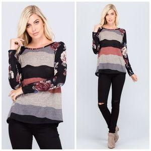 SALE😍 Gorgeous - soft blush/Lilac contrast Top