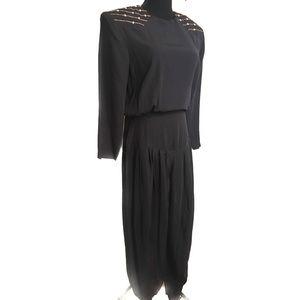 Vintage Pants - Vintage studded jumpsuit
