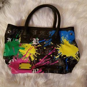 L.A.M.B. Authentic Signature Splatter Paint Purse
