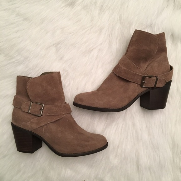 BCBG Ankle Boots Booties Smoke Taupe Excellent