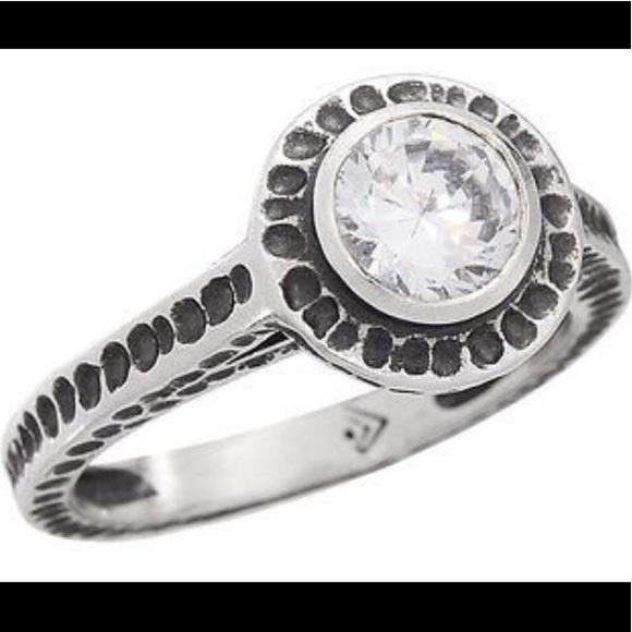 "Silpada Jewelry - Silpada ""Perfect Bliss"" Sterling Silver & CZ ring"