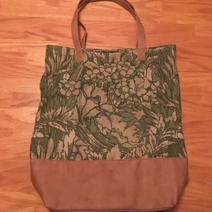Merona large floral tapestry tote