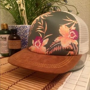 Roxy Tropical Suede Brim Trucker Hat