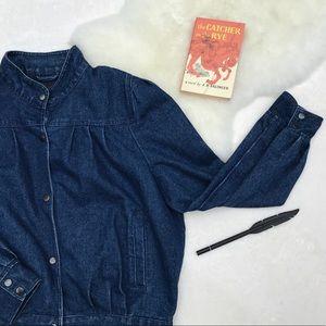🔥BF Sale! Vintage 80s denim bomber jacket