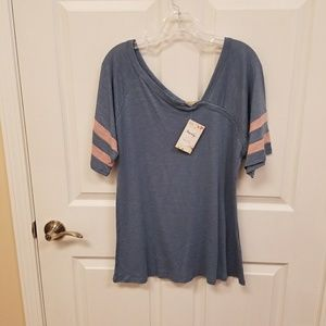 Tops - Asymmetrical Jersey cotton top