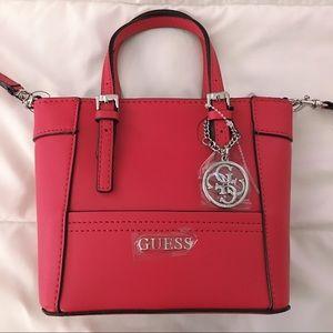 543a456d1ada Guess Bags - GUESS red delaney mini tote crossbody
