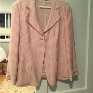 Giorgio Armani Light Pink Silk Suit 12