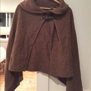 Ralph Lauren Herringbone Wrap Lambswool One Size