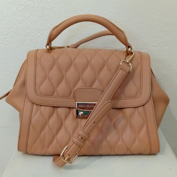 0c517a634d Quilted leather Stella satchel NUDE Vera Bradley. M_5a027f643c6f9f157c0522a0