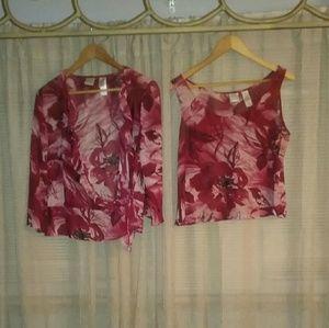 Emma James Two piece blouse set