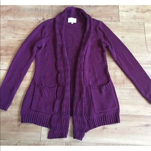 Skies Are Blue purple sweater Small