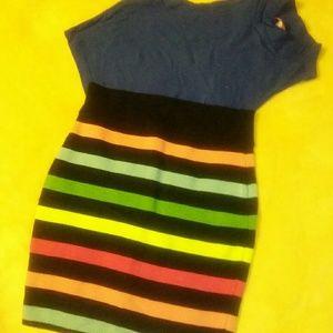 NWOT Nasty Gal Multicolored mini skirt