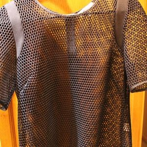 MILLY authentic black mesh top