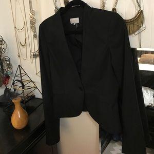 1.State Black Peplum Blazer Tailored