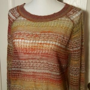 Anthropologie Sun-Marled Pullover Mohair Sweater