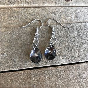 Jewelry - 3 for $25 Handmade Swarovski Black Earrings