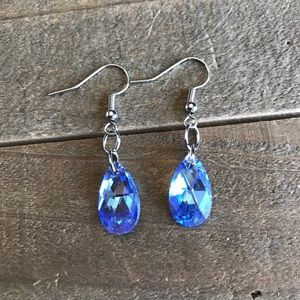 Jewelry - 3 for $25 Handmade Blue Swarovski Earrings