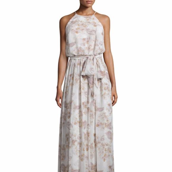 f81db021fc3e Donna Morgan Dresses | Alana Print Chiffon Halter Style | Poshmark
