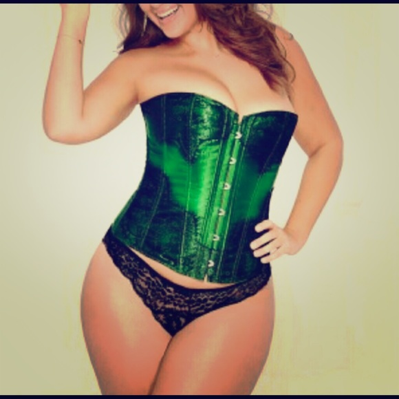 Adore Me Other - Green & Black Corset