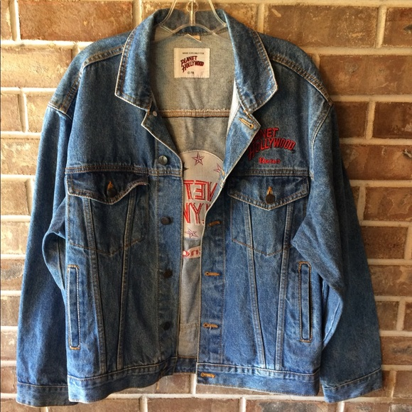 Other - Vintage Planet Hollywood Reno Denim Jacket