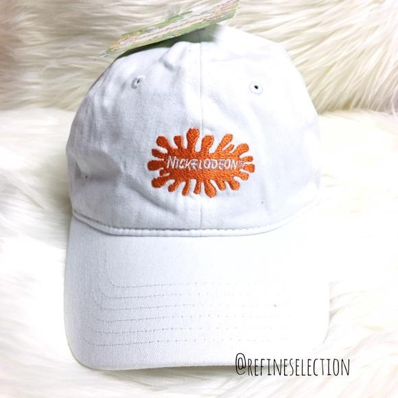 4395e670f Nickelodeon Slime White Dad Hat Cap NWT