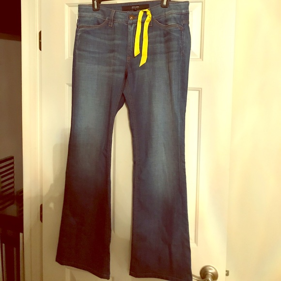 ca151e167944 NWT Escada Sport Medium Blue Flared Jeans.
