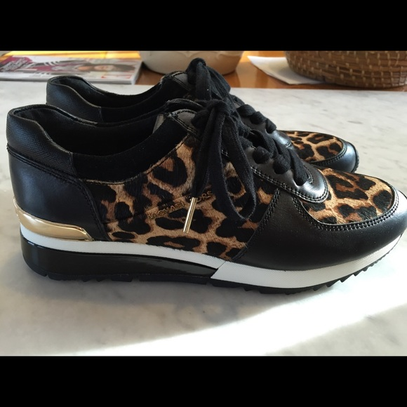 35f90052 Michael Kors Shoes | Size 8 Leopard Print Allie Sneaker | Poshmark