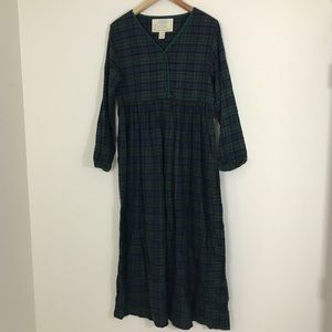 Victoria's Secret country plaid night gown cotton
