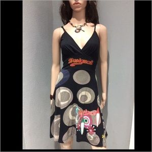 Desigual Dress Size S Multicolor Stretchy Cotton
