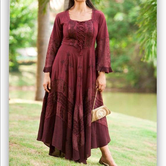 Holy Clothing Bella maxi renaissance dress sz 2X