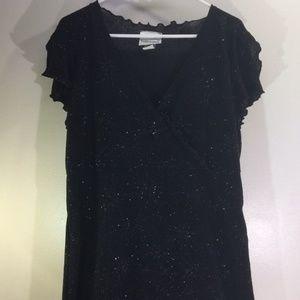 Black Starburst Glitter Evening Dress 18/20