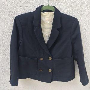 3.1 Phillip Lim Navy Military Jacket Blazer