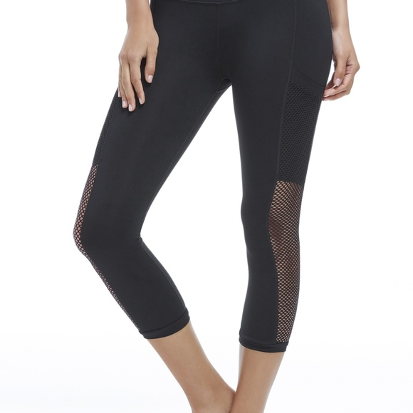 26490755838db Fabletics Pants | Black Leggings With Mesh Pockets | Poshmark