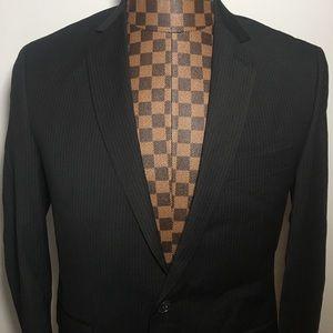 Kenneth Cole Reaction-Black Pinstripe Blazer 38S