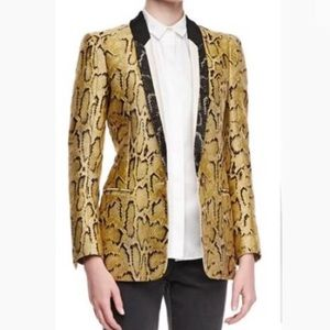 $2400 Stella McCartney Snake-Print Blazer