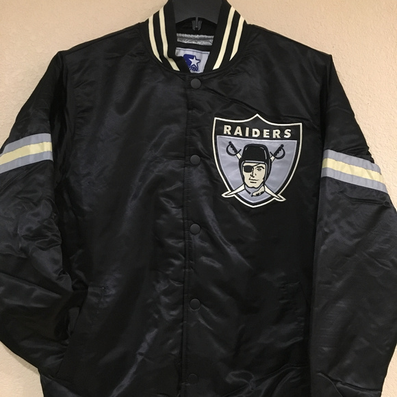Nice STARTER Jackets & Coats | Oakland Raiders Men Legacy Satin Jacket