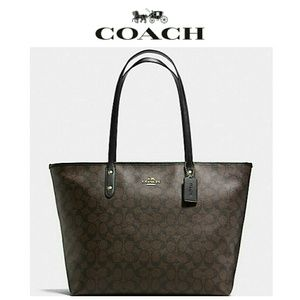 *1 left!* NEW Coach LARGE City Zip Tote
