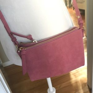 Pink Faux Suede bag from Old Navy