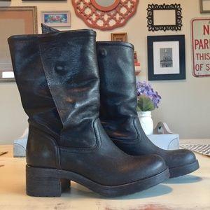 Vera Wang Italian Leather Moto Boots