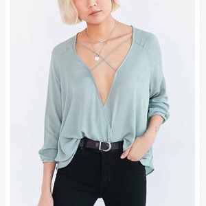 Silence and Noise Urban Outfitters Surplice Top
