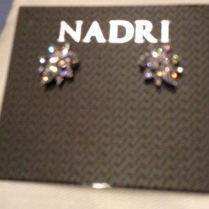 Nadri brand new crystal earrings!