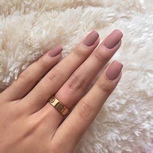 Rose Gold Screw Love Ring