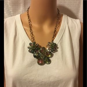 Swarovski Crystal Flower Necklace
