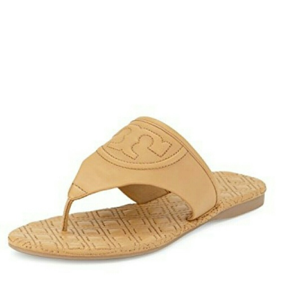 0c972bbc50242 New Tory Burch Fleming Marion Quilted Thong Sandal