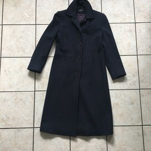 NINE WEST Navy Blue 100% Wool Coat 4p