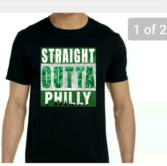 0497f2495 Incognito Tees Shirts | Eagles Themed Straight Outta Philly Shirt ...